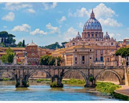 VP483 картина по номерам Мост Ангелов. Рим.  DIY Babylon фото набора