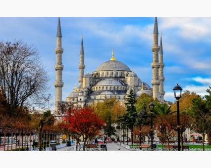VP485 картина по номерам Стамбул. Голубая мечеть.  DIY Babylon фото набора