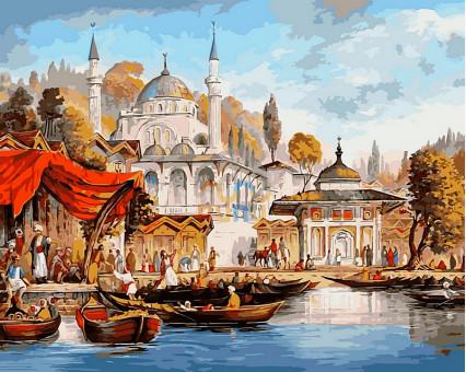 VP486 картина по номерам Стамбул. Мечеть  Ускюдар DIY Babylon