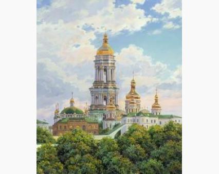 VP488 картина по номерам Киев. Печерская лавра. DIY Babylon фото набора