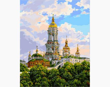 VP488 картина по номерам Киев. Печерская лавра. DIY Babylon