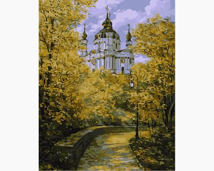 VP491 картина по номерам Осенняя рапсодия DIY Babylon