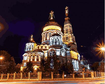 VP492 картина по номерам Харьков. Благовещенский собор DIY Babylon