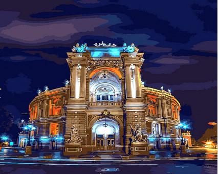 VP494 картина по номерам Оперный театр.Одесса DIY Babylon