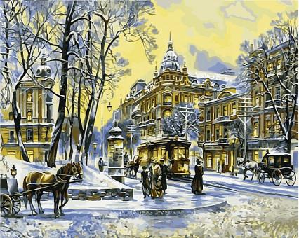 VP498 картина по номерам Владимирская. Зима DIY Babylon