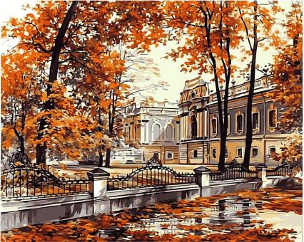 VP499 картина по номерам Мариинский дворец DIY Babylon