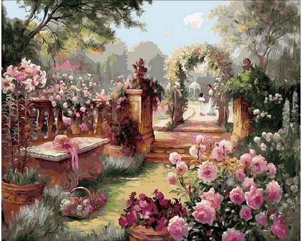 MR-Q1442 Картина раскраска Райский садMariposa