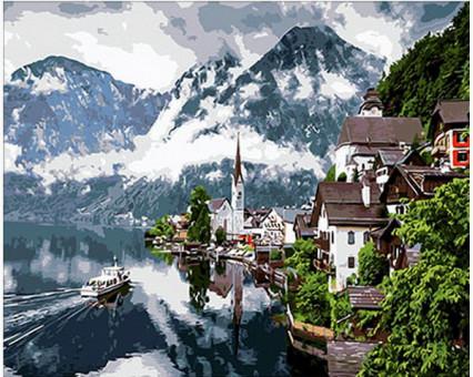 MR-Q352 Картина раскраска Швейцарские Альпы Mariposa