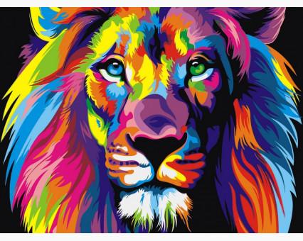 VK001 Картина по номерам Радужный лев