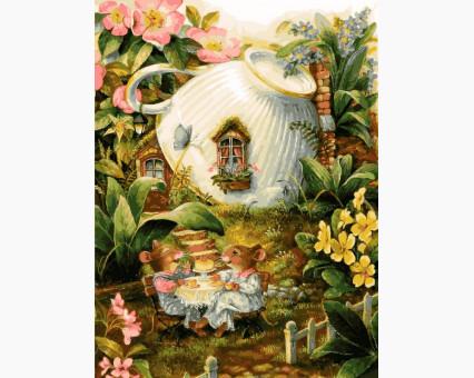 VK140 картина по номерам Мышиный домик DIY Babylon
