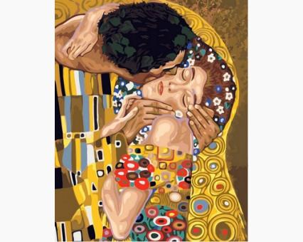 VP547 Рисование по номерам Поцелуй Babylon