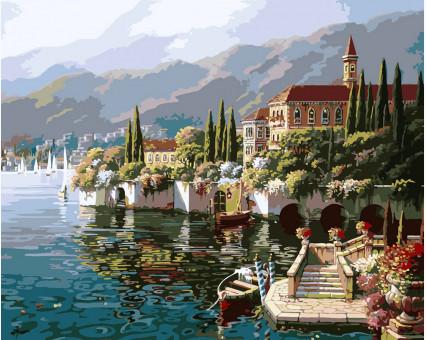 KHO1145 картина по номерам Отражение Веренны Идейка