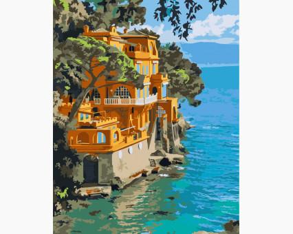 KHO2217 картина по номерам Портофино, Италия Идейка