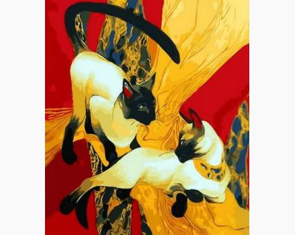 MR-Q1278 Картина раскраска Сиамские кошкиMariposa