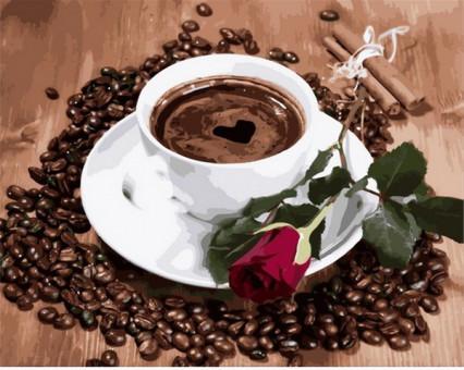 MR-Q2096 Картина раскраска Приглашение на кофеMariposa