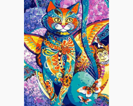 VP613 картина по номерам Чеширский кот DIY Babylon