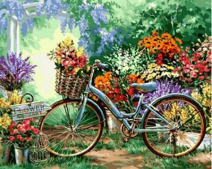 VP639 Картина по номерам Цветочный рынок Babylon