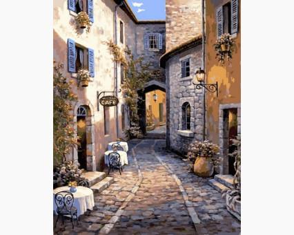 VP665 Раскраска по номерам Итальянский дворик Babylon