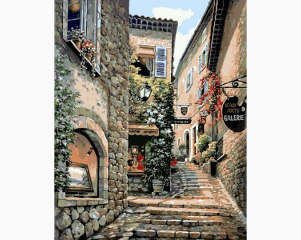 VP667 картина по номерам Лестницы старого города DIY Babylon