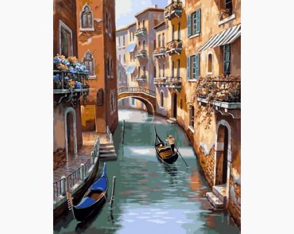 VP668 картина по номерам Каналы Венеции DIY Babylon