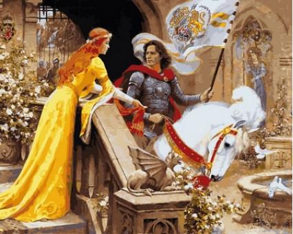 VP680 картина по номерам Ланселот и Гвиневера DIY Babylon