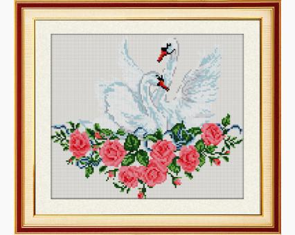 Алмазная вышивка Dream Art Пара лебедей (DA-30383) 38 х 46 см