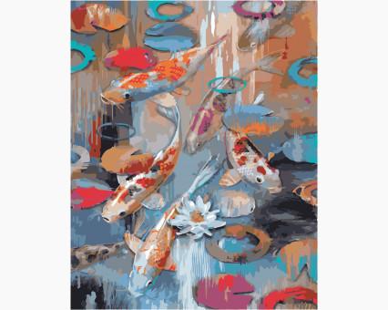 KH2481 картина по номерам Карпы Кои Идейка