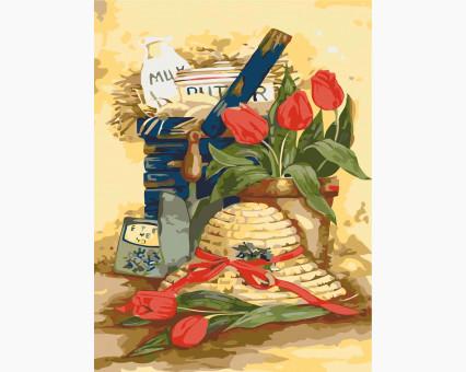 KHO2215 Картина раскраска Дачный натюрморт Идейка