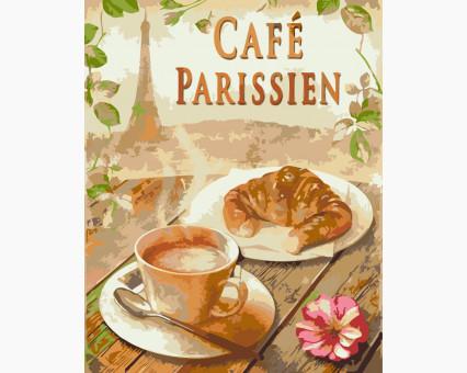 KHO5503 картина по номерам Завтрак в Париже Идейка