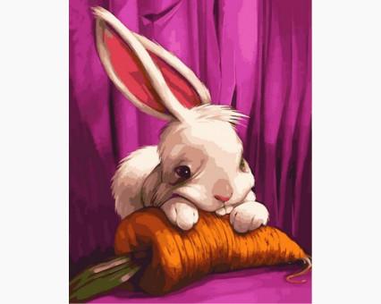 MR-Q2106 Раскраска по номерам Милый зайчонок Mariposa