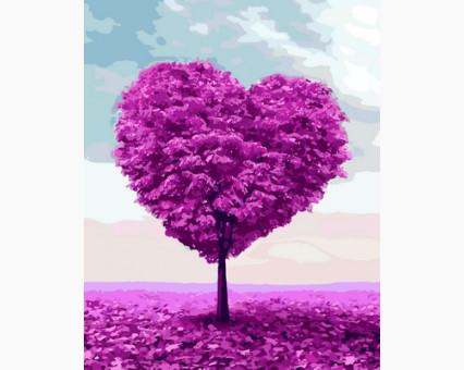 MR-Q2109 Раскраска по номерам Дерево любви Mariposa