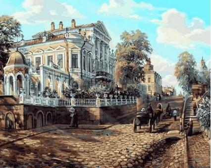 MR-Q2112 Раскраска по цифрам Пермь. Дом Мешкова, XIX век Mariposa