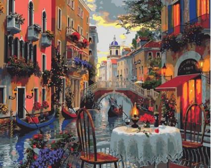 MR-Q2114 картина по номерам Вечер полный романтики Mariposa