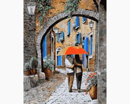 MR-Q2117 картина по номерам Апельсиновый зонтик Mariposa
