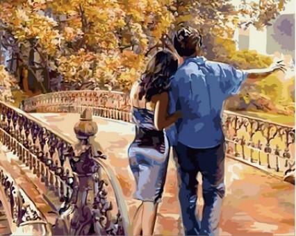 VP733 картина по номерам Романтическая осень DIY Babylon