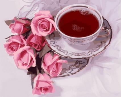 VP737 картина по номерам Чай с суданской розой DIY Babylon