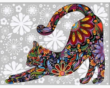 VP761 Холст для рисования Цветочный кот (потягивающийся) Babylon