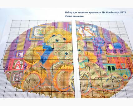 ide_H334 набор для вышивания Картина вышивка крестом Идейка Яркие маки (H334) Идейка фото набора