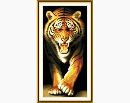 ide_D076 набор для вышивания Набор для вышивки Идейка Нападающий тигр (D076) Идейка