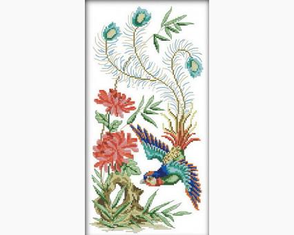 ide_D194 набор для вышивания Набор для вышивки Идейка Нежные птички (D194) Идейка