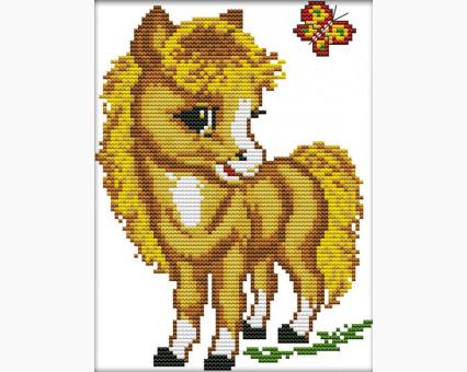 ide_D363 набор для вышивания Вышивка крестиком Идейка Маленький пони (D363) Идейка