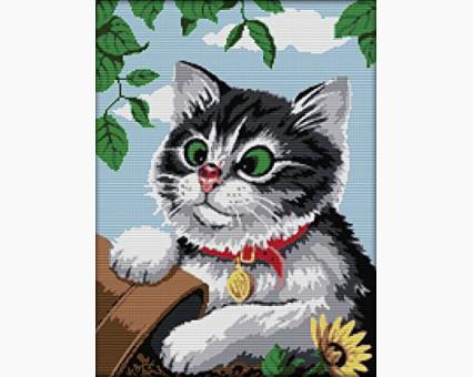 ide_D445 набор для вышивания Картина вышивка крестом Идейка Игривый котик (D445) Идейка