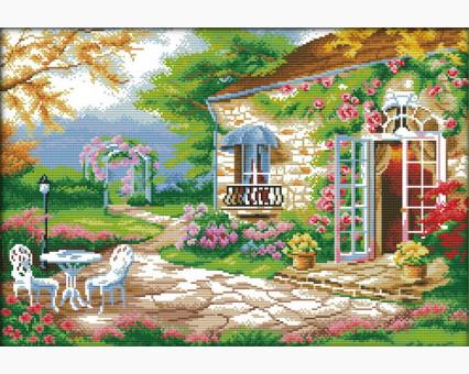 ide_F231 набор для вышивания Вышивание крестиком Идейка Романтичная веранда (F231) Идейка