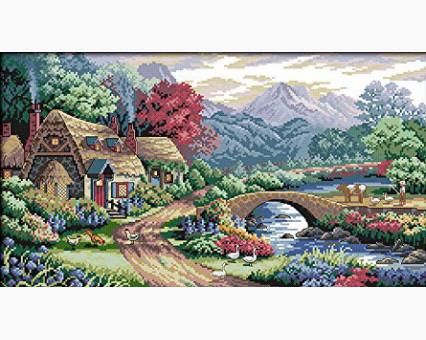 ide_F402 набор для вышивания Картина вышивка крестом Идейка Горные просторы (F402) Идейка
