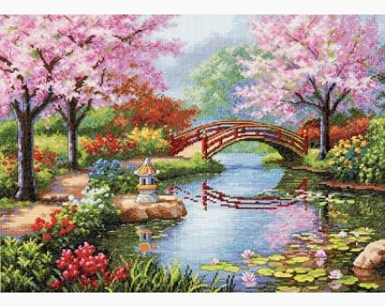ide_F410 набор для вышивания Набор для вышивания Идейка Живописный сад (F410) Идейка
