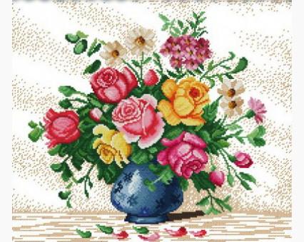 ide_H147 набор для вышивания Картина вышивка крестом Идейка Яркие цветы 1 (H147) Идейка
