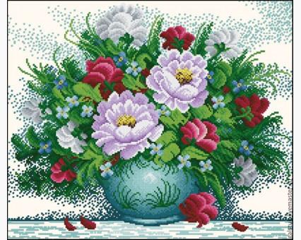 ide_H158 набор для вышивания Набор для вышивки Идейка Яркие цветы 2 (H158) Идейка