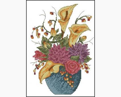 ide_H231 набор для вышивания Вышивка крестиком Идейка Цветы в вазе (H231) Идейка