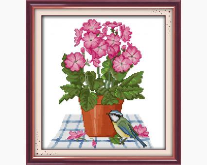 ide_H257 набор для вышивания Набор для вышивания Идейка Цветы и птичка (H257) Идейка