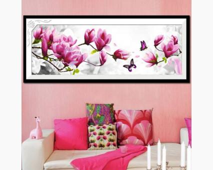 ide_H269 набор для вышивания Вышивка крестиком Идейка Розовые магнолии (H269) Идейка фото набора